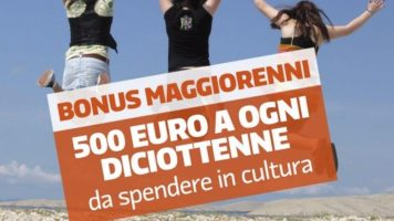 bonus cultura 500 euro ai diciottenni